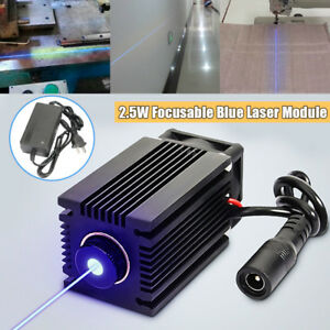 445nm 2 5w 2500mw Blue Laser Module With Heatsink Diy Laser Cutter Engraver Us
