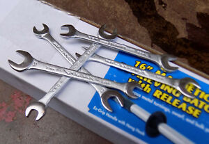 Jh Williams M1020 Metric Open End Wrench Vulcan 6mm 8mm Nos