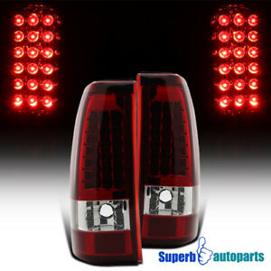 1999 2002 Chevy Silverado Gmc Sierra 1500 2500 Led Tail Brake Lights Red Lens