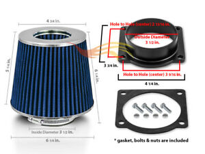 Air Intake Maf Adapter Blue Filter Kit For Ford 97 05 E150 Econoline 4 6l 5 4l