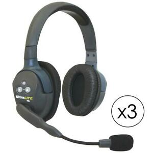 Eartec Ul3d Ultralite 3 person System Includes Single And Dual Headset