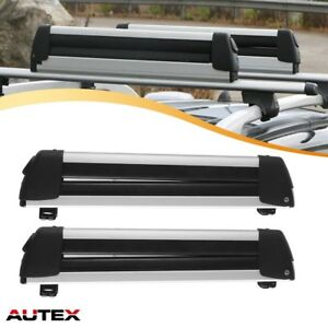 2pcs Roof Rack Snowboard Ski Mounted Carrier 30 Universal Cross Bar Cargo Rack