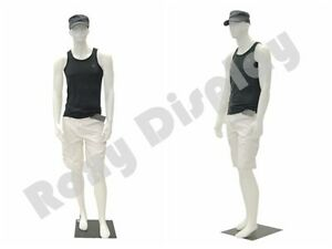 Male Plastic Unbreakable Mannequin Display Dress Form Display 959w ps