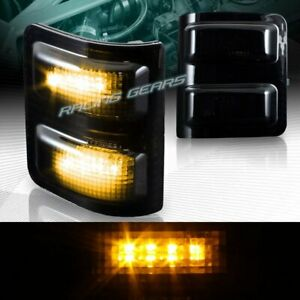 Smoke Lens Side Mirror Amber Led Turn Signal Lights Fit 08 16 Ford Super Duty