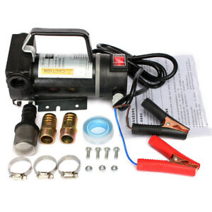 12v 200w Biodiesel Kerosene Pumpcast Fuel Oil Transfer Extractor Pump 45l min Us