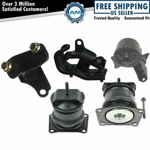 Engine Motor Transmission Mount Kit Set Of 5 For Acura Cl Tl Honda Accord V6