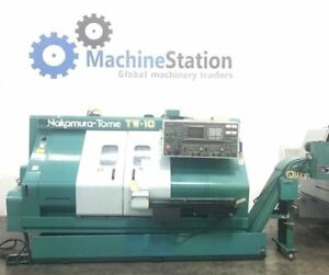 Nakamura Tw 10mm Cnc Multi Axis Turning Center Twin Turret Live Tool Lathe tw10