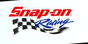 New Vintage Snap On Tools Racing White Sticker Decal Man Cave Garage New Logo