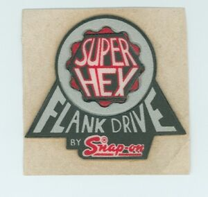 New Vintage Tools Super Hex Flank Drive By Snap On Tool Box Sticker Decal 60s