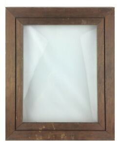 Vintage Rustic Grooved Wood Wooden Picture Frame Inside Dimensions 13 5 X 10 5