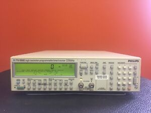 Philips Pm6680 Dc To 225 Mhz Digital Programmable Timer Counter Tested