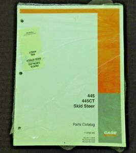 Case 445 445ct Skid Steer Loader Tractor Parts Manual Catalog Mint Sealed