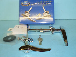 1932 Ford Passenger Car Locking Door Handle Set 5 Window Coupe And Sedan