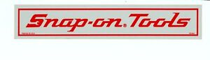 New Vintage Snap On Tools Old Logo Reflective 10x2 Tool Box Sticker Decal Dc64a
