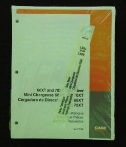 Case 60xt 70xt 60 70 Xt Skid Steer Loader Tractor Parts Manual Catalog Sealed