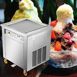 S s 50cm Square Fry Pan Electric Thai Fried Yogurt Ice Cream Roll Machine Maker