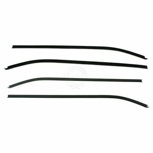 Inner Outer Window Sweep Belt Seals Weatherstrip Set Of 4 For Corvette Coupe