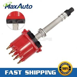 Ignition Distributor For Chevy Gmc 350 5 7l Efi Tbi Tpi Vortec 5 0l Red Cap Roto