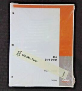 Genuine Case 465 Skid Steer Uni Loader Tractor Parts Manual Catalog Sealed Minty
