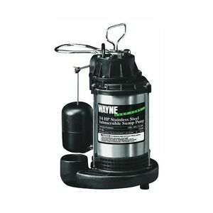 Wayne Water Sys Cdu980e 3 4 Hp Cast Iron Stainless Steel Submersible Sump Pump
