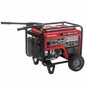 Honda Em6500 5500 Watt Electric Start Portable Generator