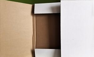 50 Mailers Cardboard Shipping Boxes For 12 Lp 33rpm Dj Vinyl Record Album White