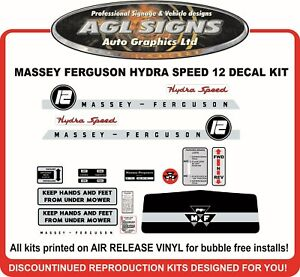 Massey Ferguson 12 Hydra Speed Reproduction Decals Mf 12 Mf 14
