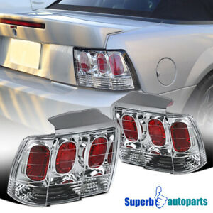 For 1999 2004 Ford Mustang Tail Lights Brake Rear Stop Lamps Pair