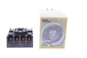 St3pf Dc 12v 8 pin 3m Off delay Operation Time Delay Timer Relay Gray W Base