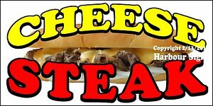 choose Your Size Cheese Steak Decal Concession Food Truck Vinyl Sign Sticker