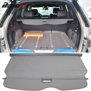 11 17 Jeep Grand Cherokee Grey Pu Leather Tonneau Cover Cargo Cover Retractable