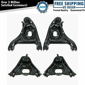 Front Upper Lower Control Arms W Ball Joints 4 Piece Set For Chevy Buick New