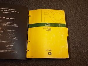 John Deere 1020 Ru Hu Lu Tractor Parts Catalog Manual Pc970