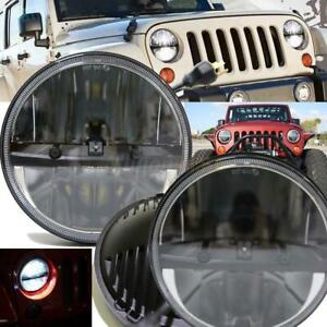2pcs 7 Inch 90w Round Hi Lo Beam Led Headlights For Jeep Wrangler 97 16 Jk Tj