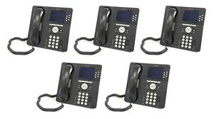 Lot Of 5 Avaya One x 9640 Voip 700383920 9640d01a 1009 Color Business Desk Phone