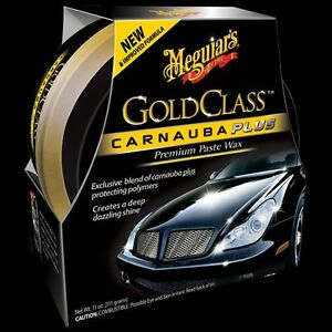 Meguiars G7014j Gold Class Carnauba Plus Premium Paste Wax Clear Coat Safe New
