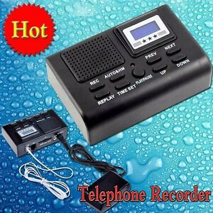 New Digital Telephone Call Lcd Display Phone Sd Card Slot Mini Voice Recorder