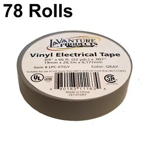 78 Rolls Of Gray Electrical Tape 3 4 X 66ft Trailer Grey Rv Wires Lavanture