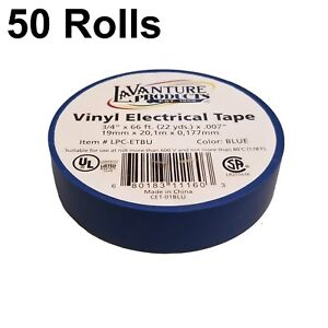 50 Rolls Of Blue Electrical Tape 3 4 X 66ft Trailer Rv Wires Lavanture