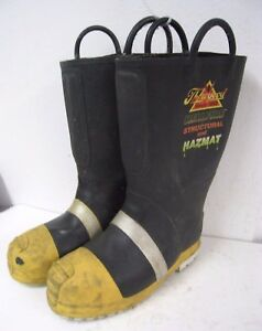 Thorogood Structural Hazmat Steel Toe Firefighter Fire Fighter Boots Men 11 Wide
