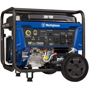Westinghouse Wgen7500 7500 Watt Electric Start Portable Generator W Gfci P