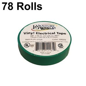 78 Rolls Of Green Electrical Tape 3 4 X 66ft Trailer Rv Wires Lavanture