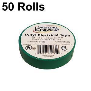50 Rolls Of Green Electrical Tape 3 4 X 66ft Trailer Rv Wires Lavanture