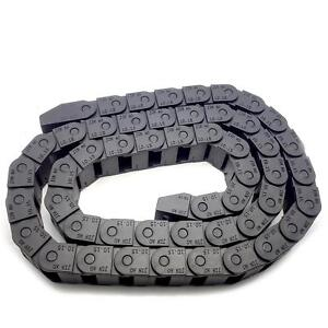Us Stock 2m 2000mm Black Long Nylon Cable Drag Chain Wire Carrier 10 X 15mm