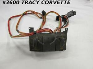 1990 91 Corvette Original 14104667 Power Seat Control Switch Harness