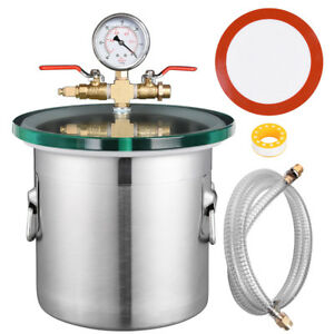 2 Gallon Stainless Steel Vacuum Chamber Kit Degassing Urethanes Silicone Epoxies
