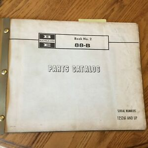 Bucyrus Erie 88b Crane Parts Catalog Manual Book Dragline Clamshell Shovel Guide