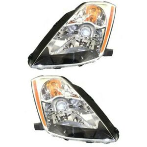 Headlight Set For 2003 2004 2005 Nissan 350z Left And Right With Bulb 2pc