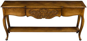 Vintage Antique Style French Country Long Narrow Sofa Table Hall Foyer Rustic