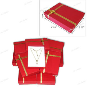 Jewelry Box For Necklace Presentation Necklace Box Red Jewelry Boxes Bulk 12 pc